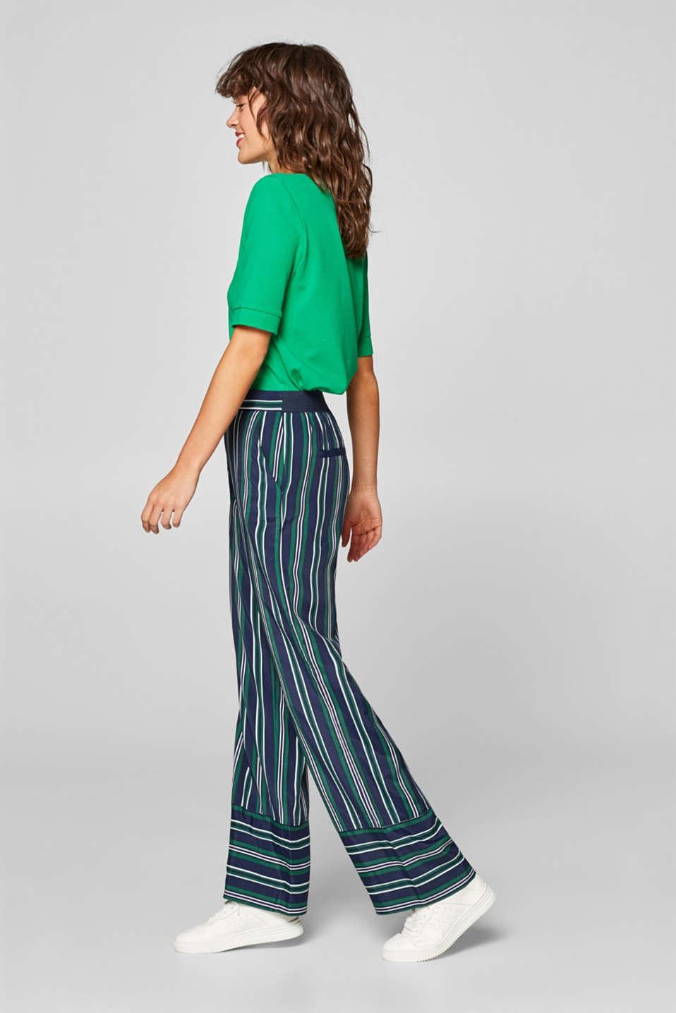 Pants woven, DARK TEAL GREEN, detail image number 1