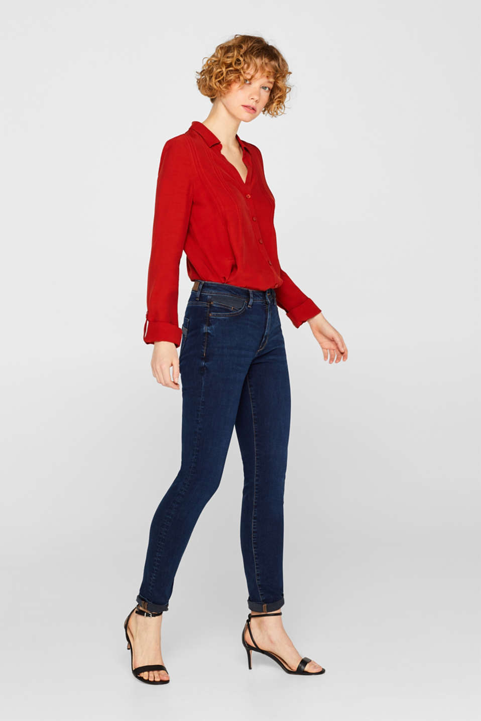 Esprit - Stretch jeans with contrasting inserts