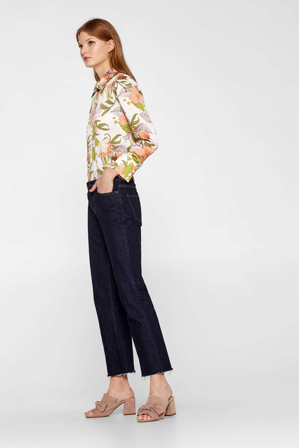 Pants denim, BLUE RINSE, detail image number 1