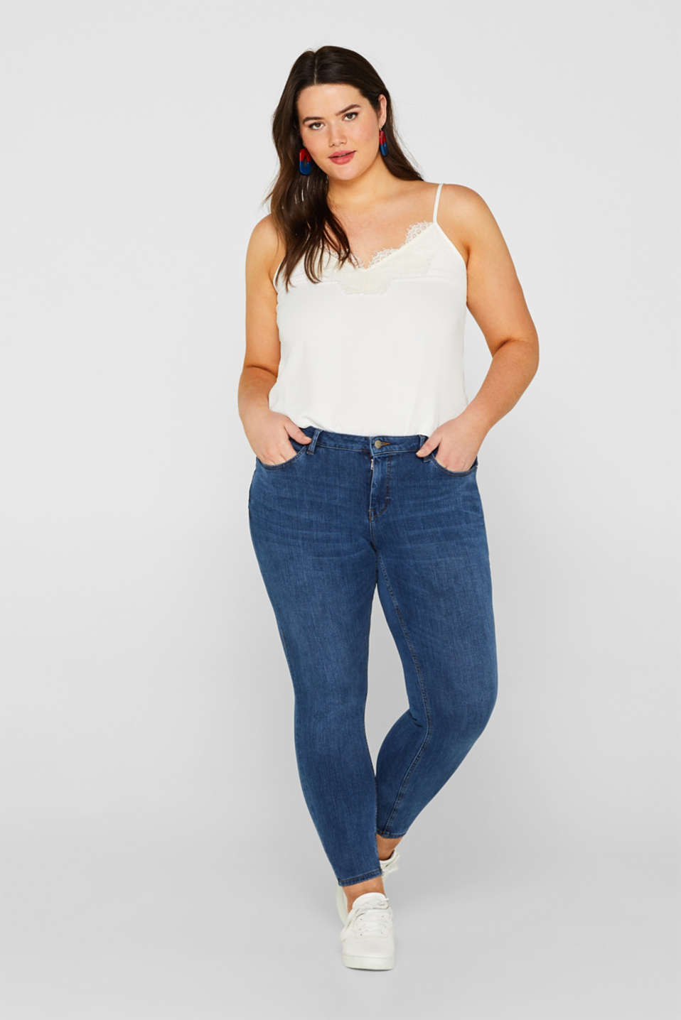 ESPRIT CURVES super stretch jeans with lyocell