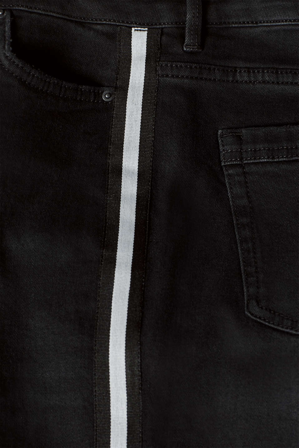 Pants denim, BLACK DARK WASH, detail image number 4