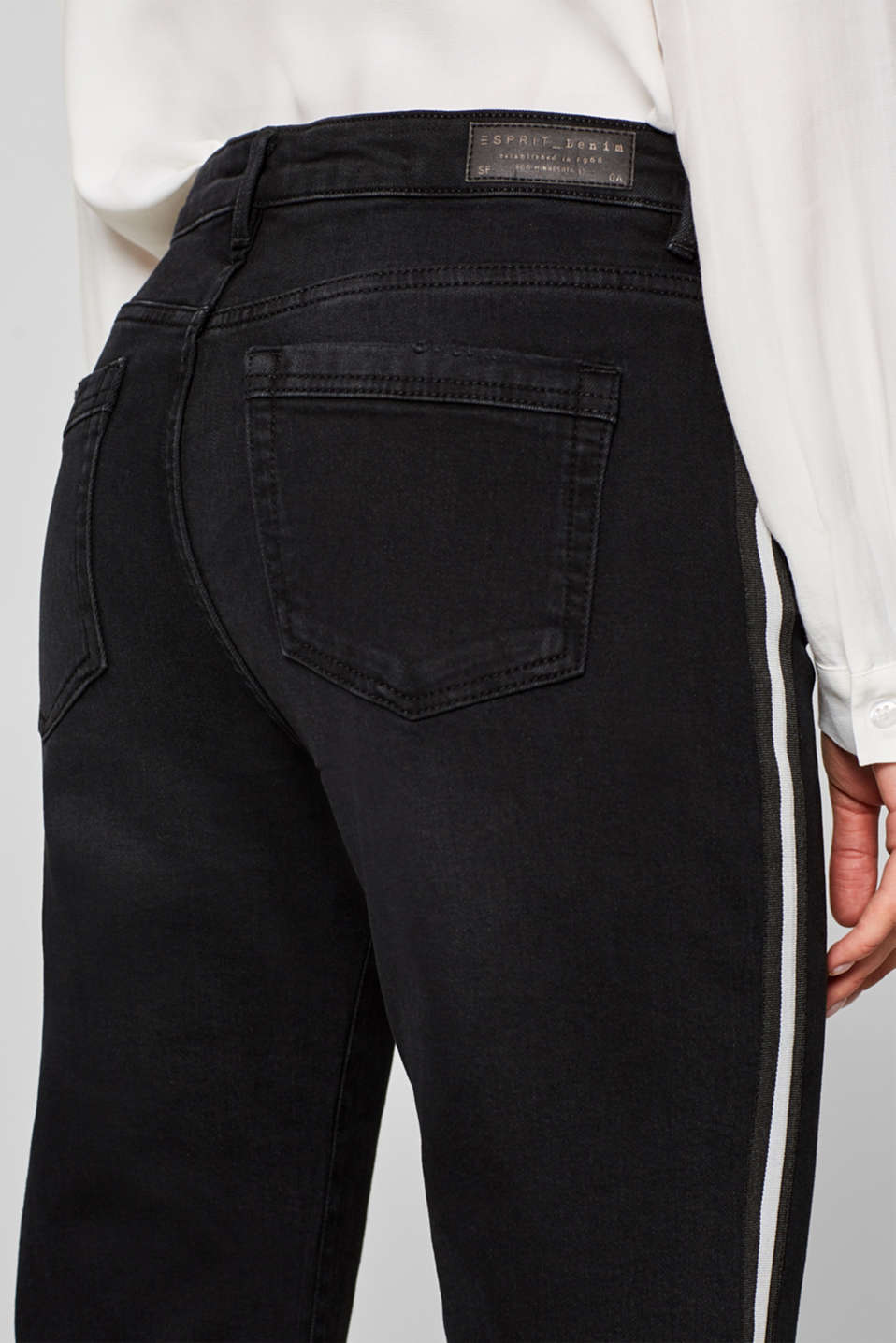 Pants denim, BLACK DARK WASH, detail image number 5