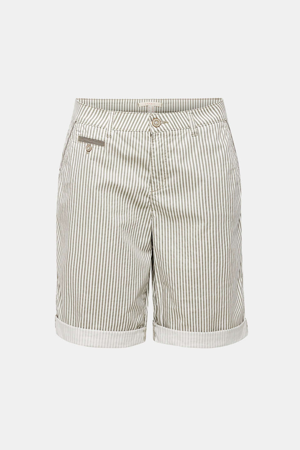 Striped shorts made of stretch cotton