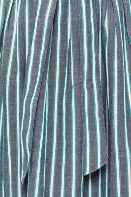 Striped midi skirt in 100% cotton