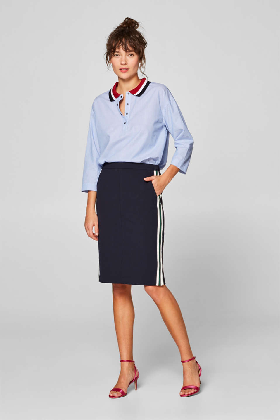 Skirts woven, NAVY, detail image number 7
