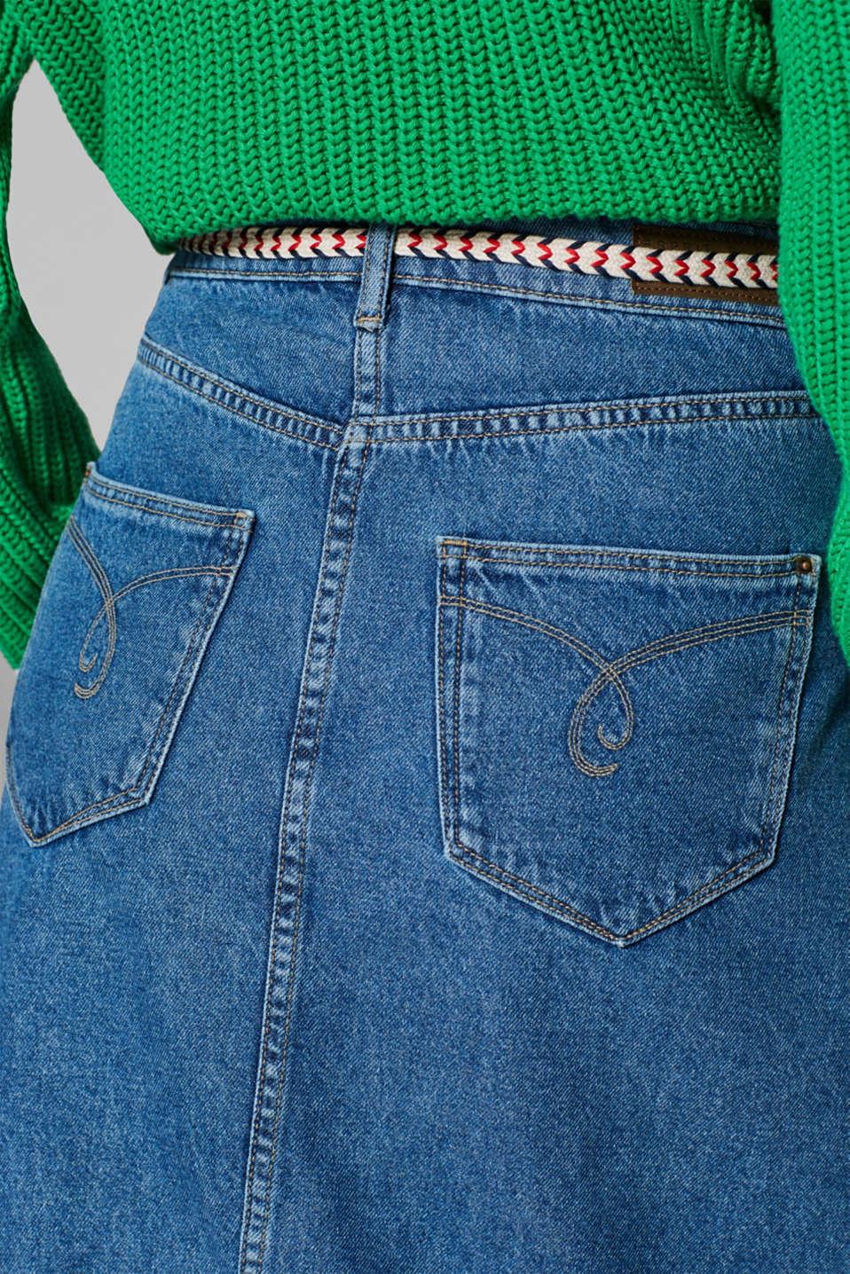 Skirts denim, BLUE MEDIUM WASH, detail image number 5