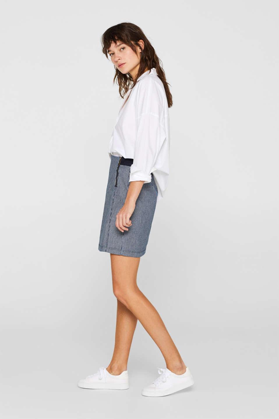 Skirts denim, BLUE MEDIUM WASH, detail image number 1