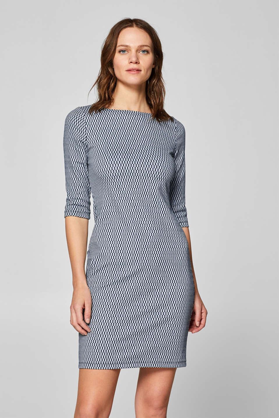 Jacquard Kaufen Im Esprit Online Etui Aus Jersey Kleid Shop qSUMVzp