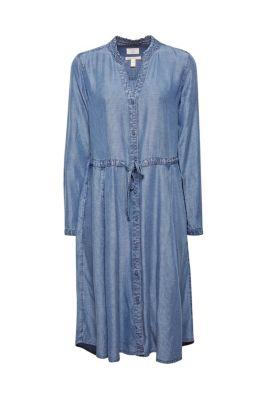 0addc1f50a17e4 Gestreiftes Lyocell-Kleid im Denim-Look69