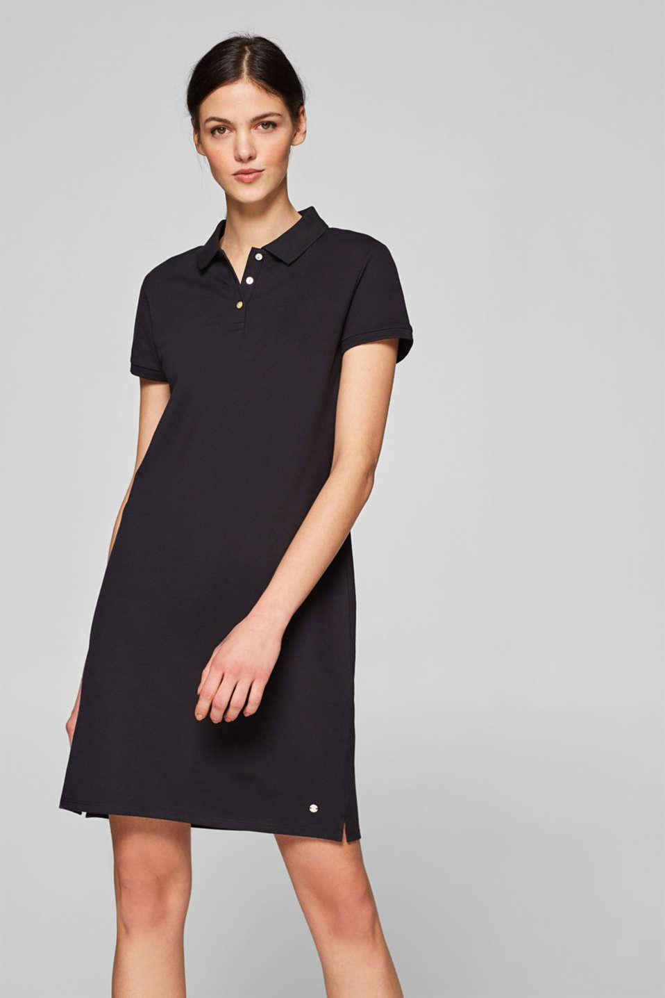 Esprit - Polo dress made of stretch piqué