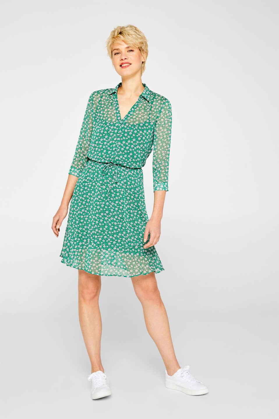 Dresses light woven, GREEN, detail image number 1
