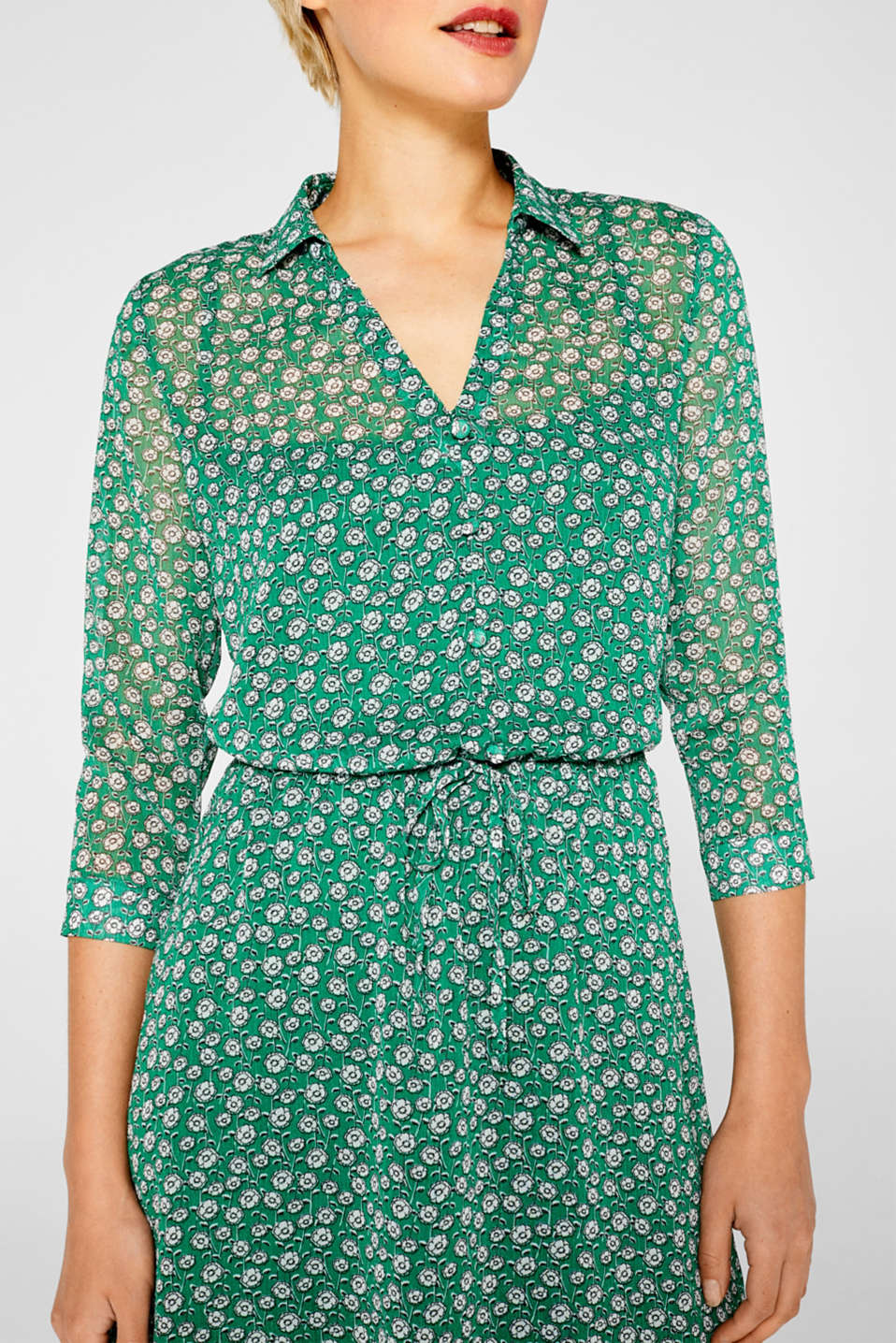 Dresses light woven, GREEN, detail image number 3