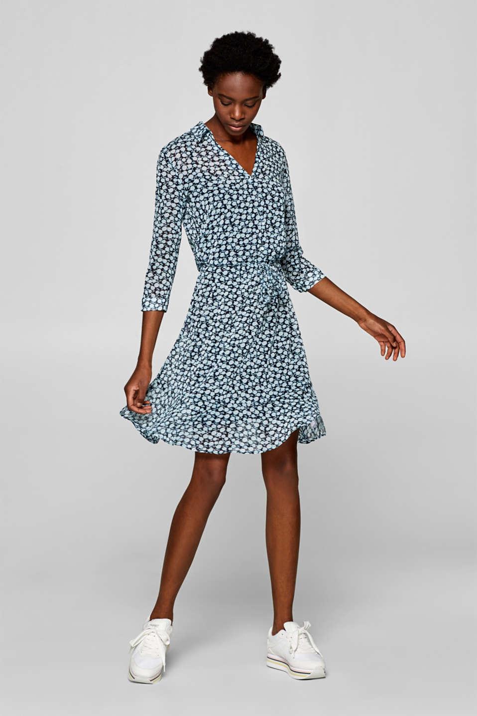 esprit  chiffonblusenkleid mit blumenprint im online