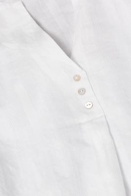 Jacquard blouse with stripes, 100% cotton