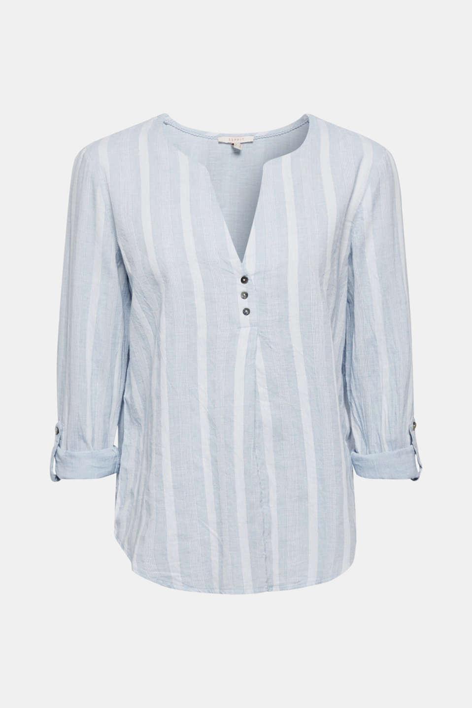 Blouses woven, LIGHT BLUE, detail image number 6