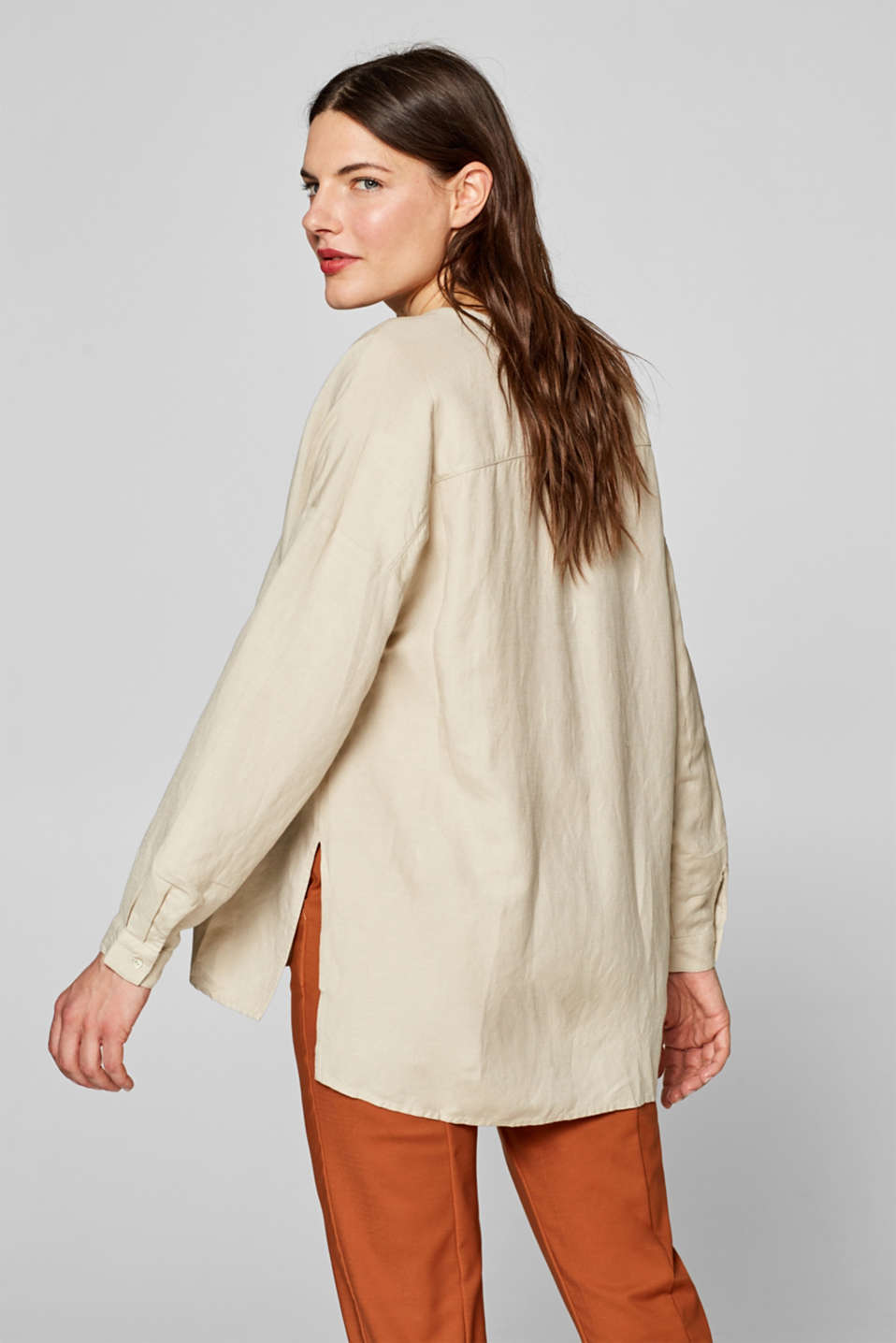 Blouses woven, TAUPE, detail image number 3