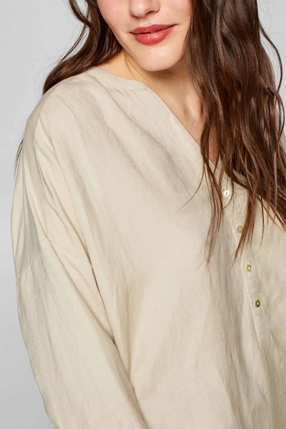 Blouses woven, TAUPE, detail image number 2