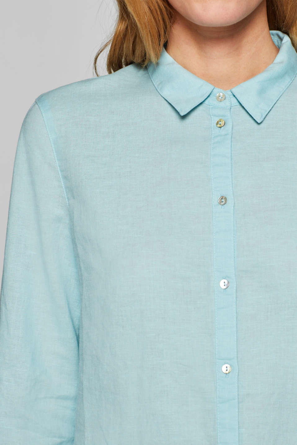 Blouses woven, LIGHT AQUA GREEN, detail image number 6