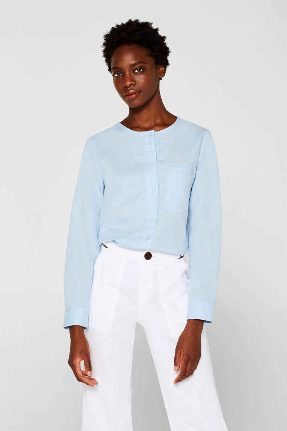 Blouses woven, LIGHT BLUE, detail image number 0