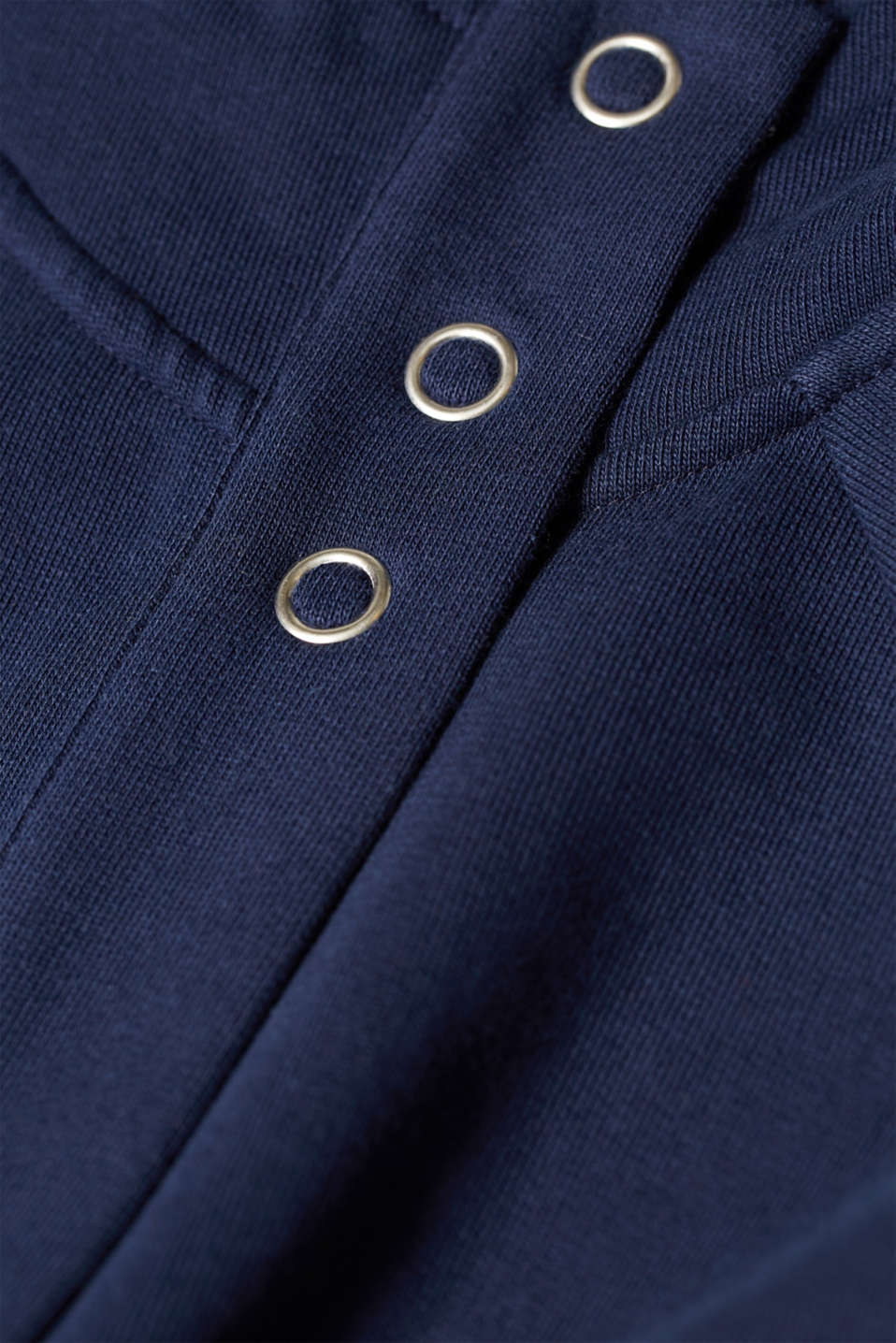 Sweatshirt parka with hood, 100% cotton, NAVY, detail image number 3