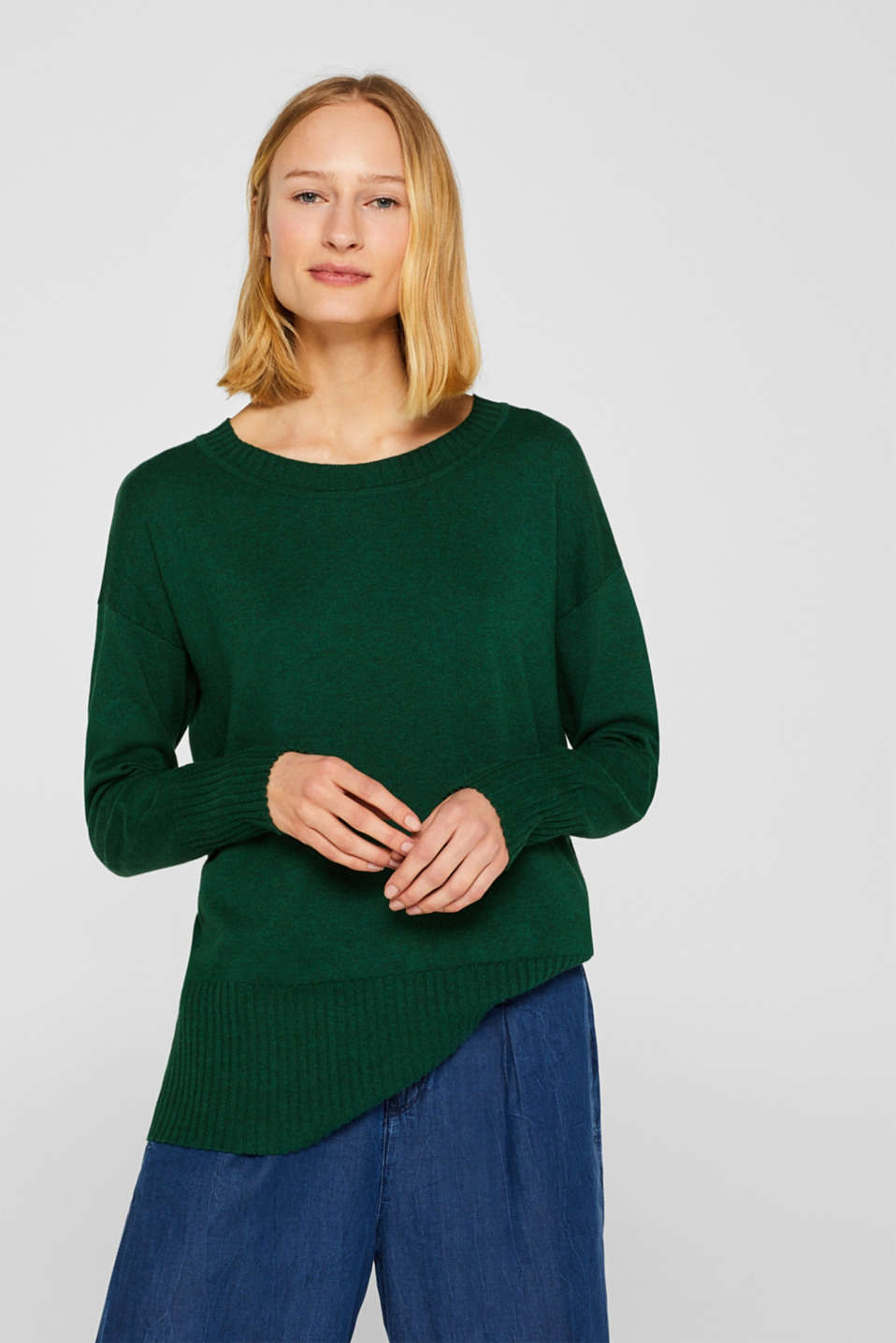 Esprit - Jumper with organic cotton, 100% cotton