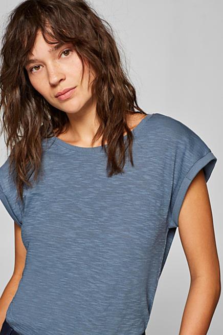 395b00c4110 T-shirt texture décontracté à teneur en coton biologique