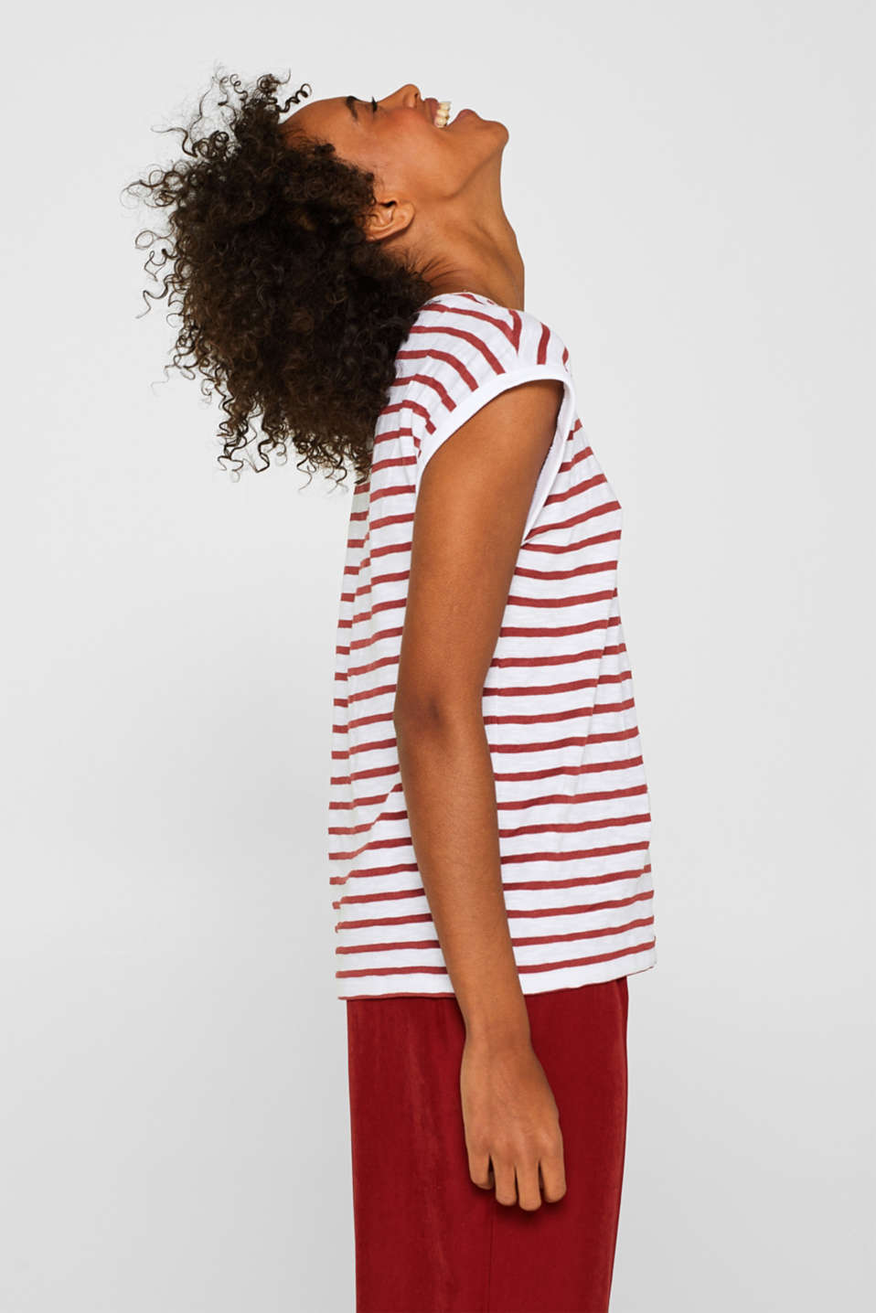 Esprit - Striped T-shirt containing organic cotton