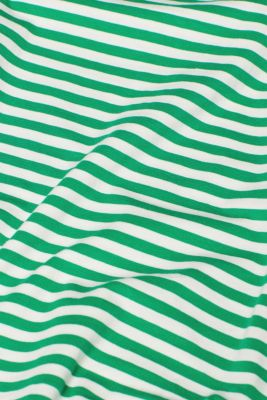 Striped T-shirt with stretch and organic cotton, GREEN 4, detail