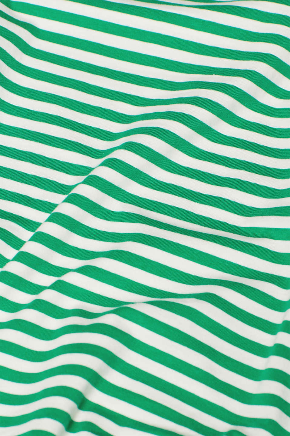 Striped T-shirt with stretch and organic cotton, GREEN 4, detail image number 4