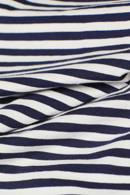 Striped T-shirt with stretch and organic cotton