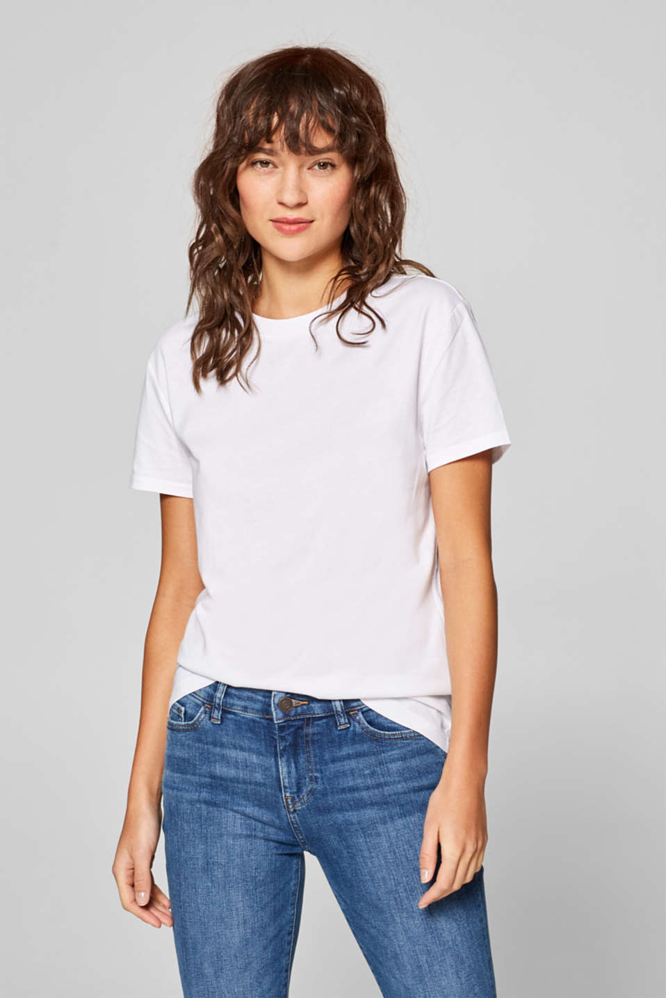 Esprit - T-shirt in basic look, 100% katoen