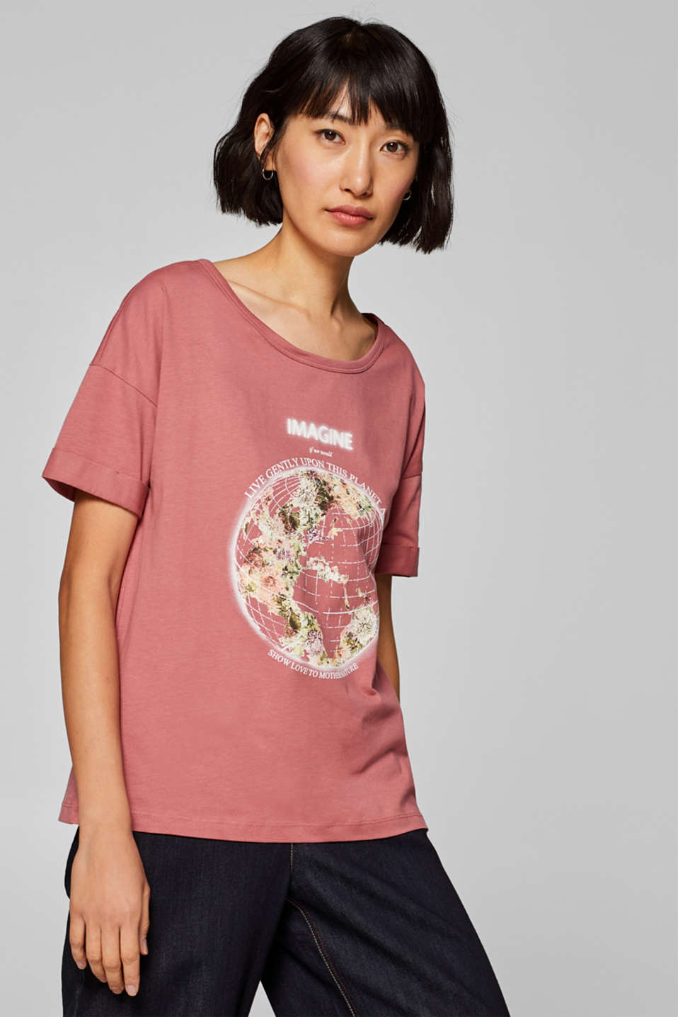 Esprit - Printed T-shirt, 100% cotton