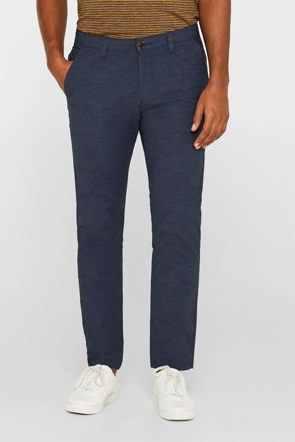 Esprit - Melierte Chino mit Superstretch-Komfort