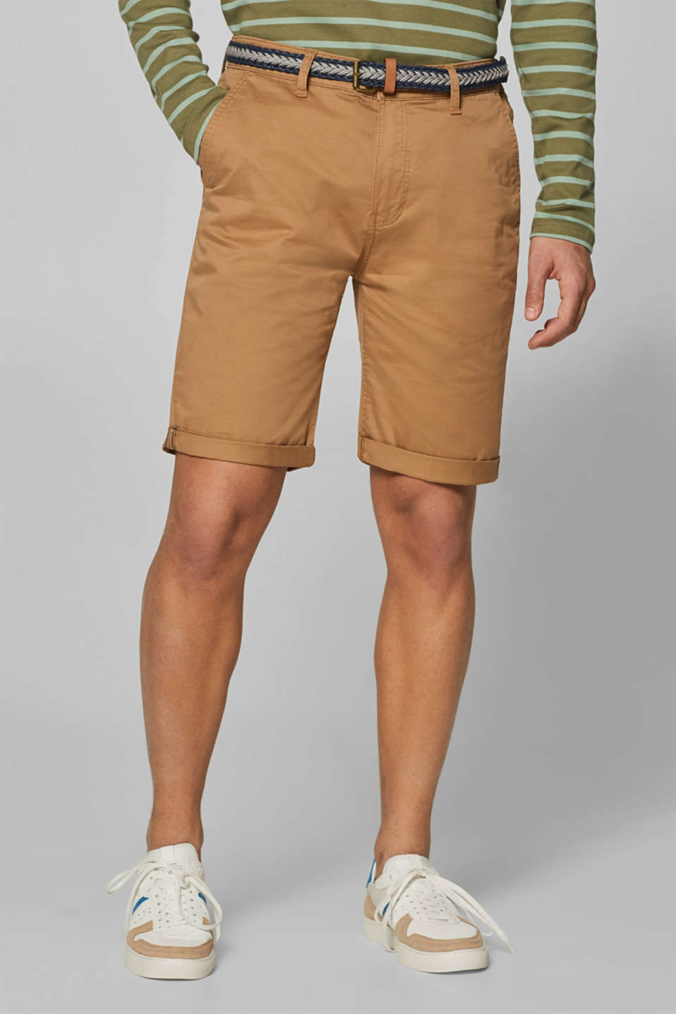 Esprit - Short chino en coton stretch