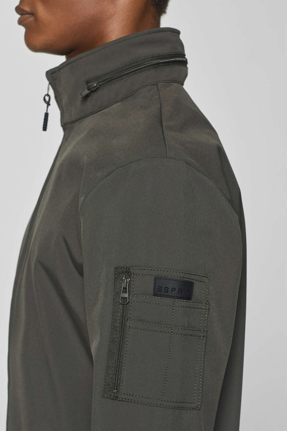 Jacket with adjustable hood, DARK GREY, detail image number 2