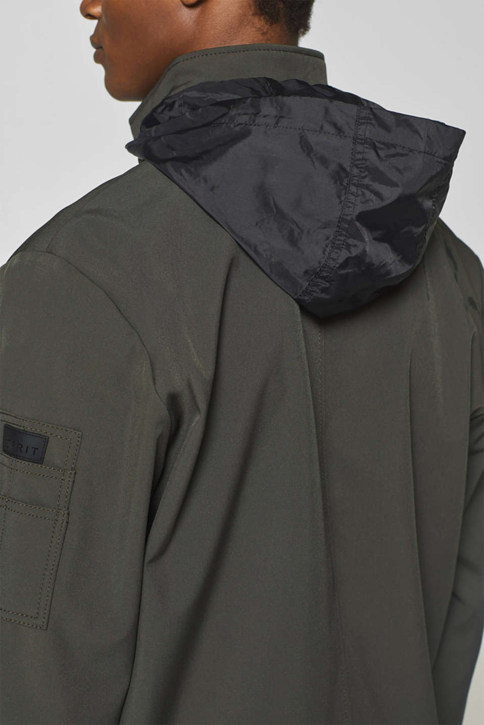 Jacket with adjustable hood, DARK GREY, detail image number 5