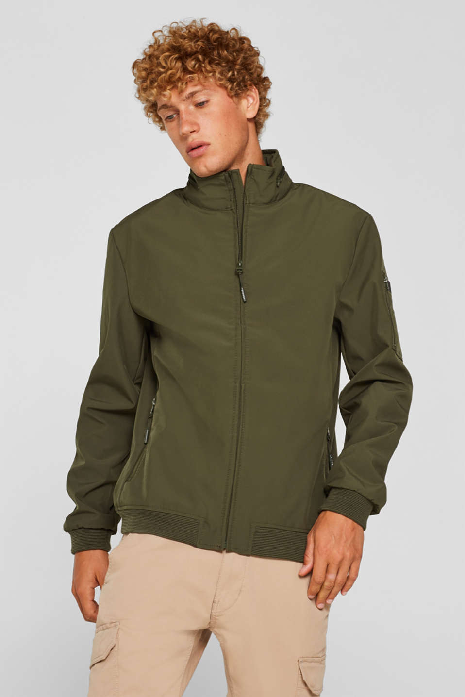 Jackets outdoor woven, KHAKI GREEN, detail image number 0