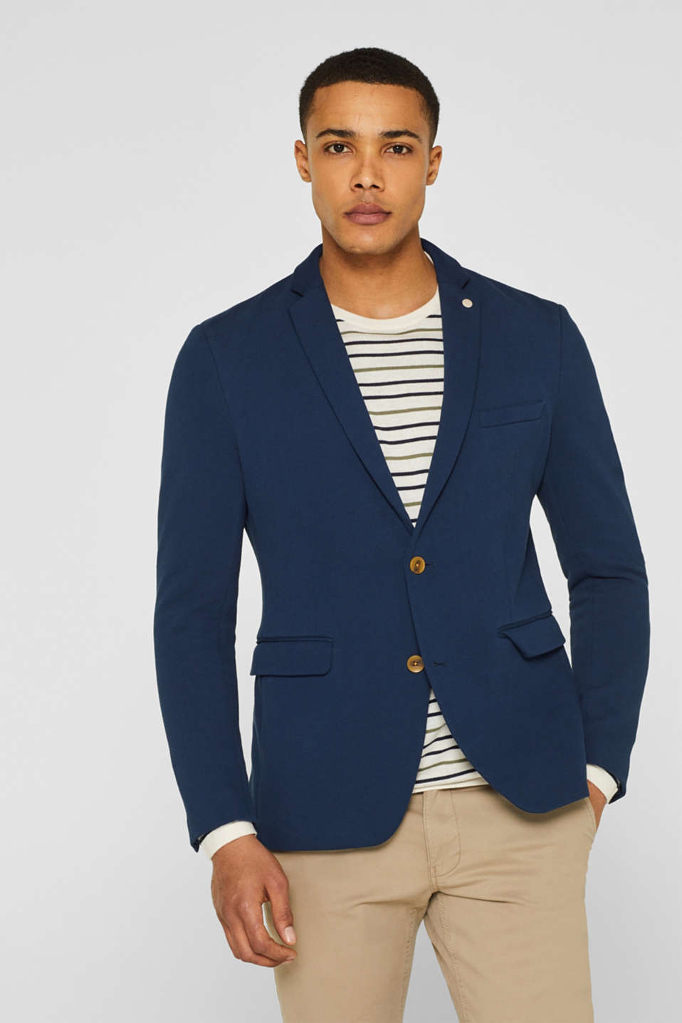Esprit - Tailored jacket with elbow patches