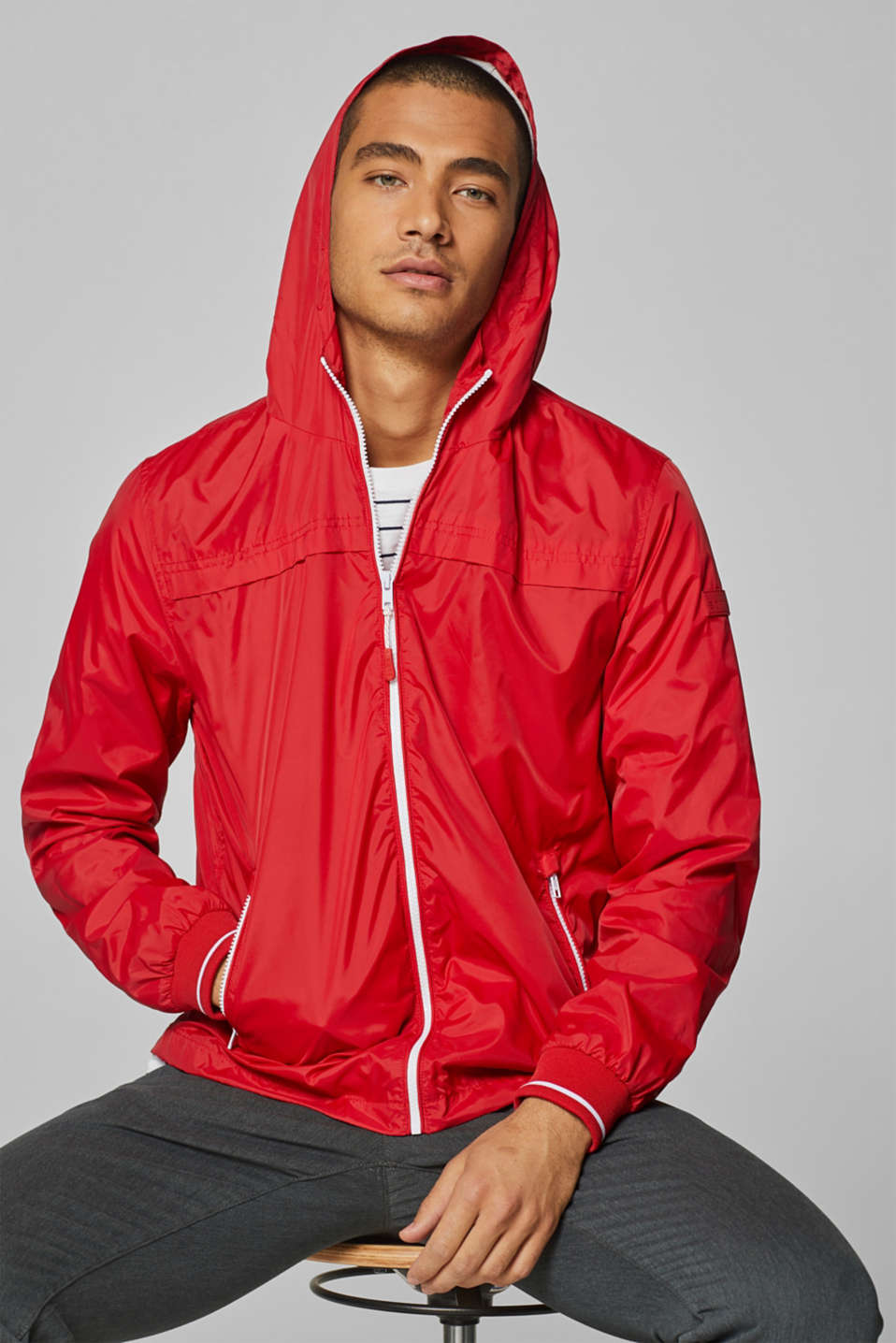 Esprit - Nylon jacket with hood
