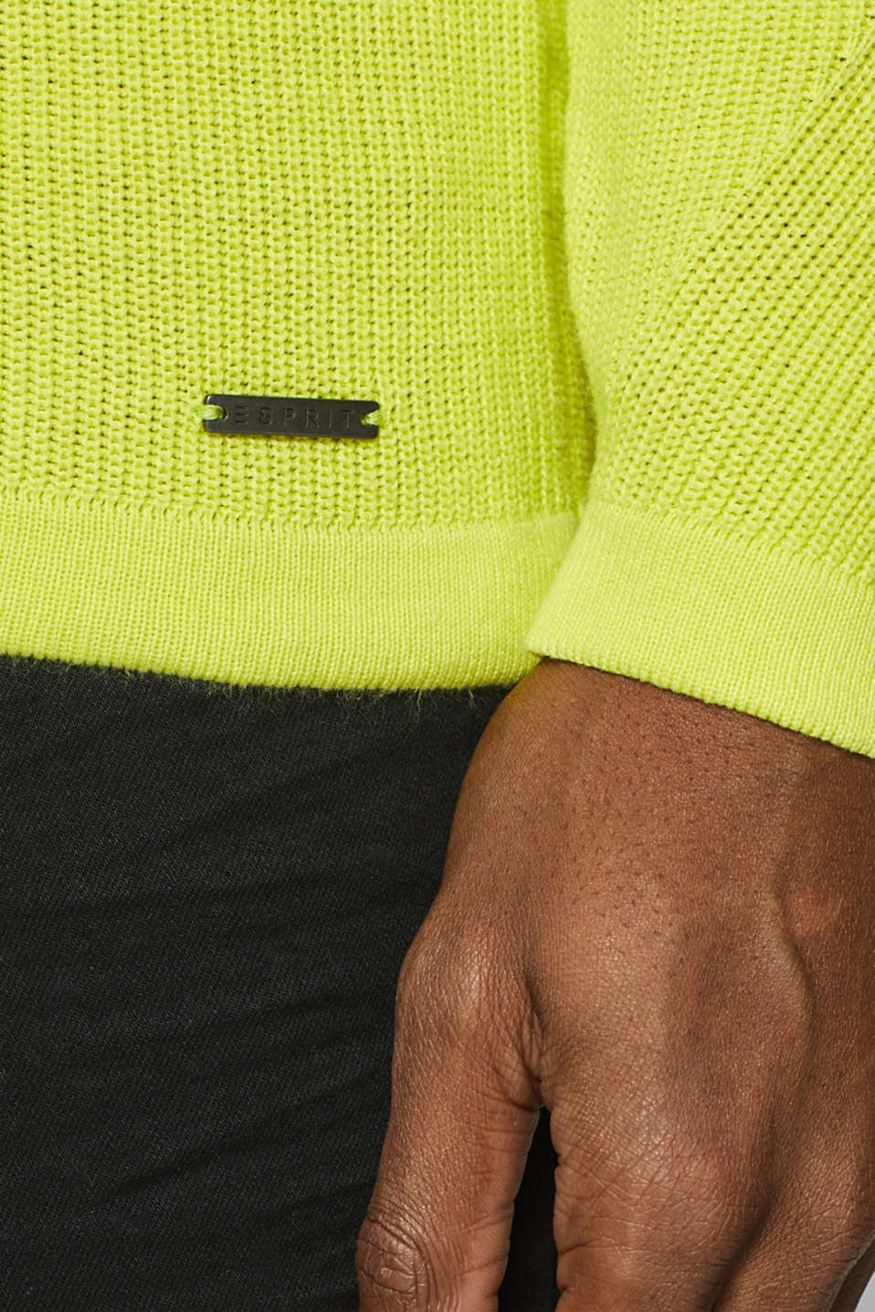 Sweaters, BRIGHT YELLOW, detail image number 2