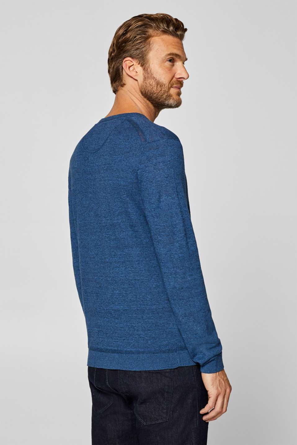 Sweaters, BLUE, detail image number 3