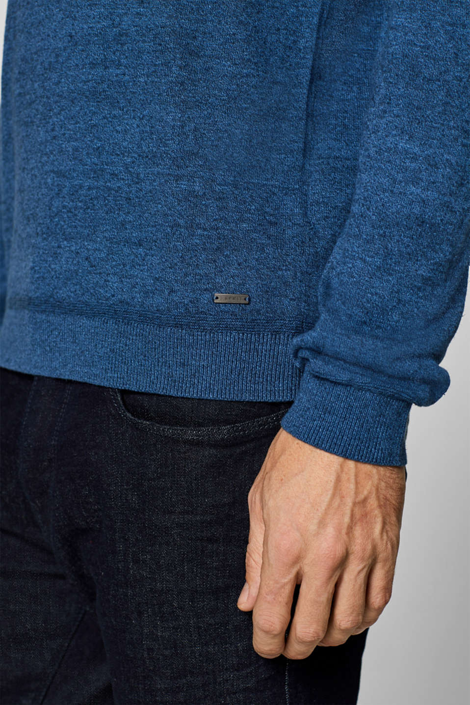Sweaters, BLUE, detail image number 6