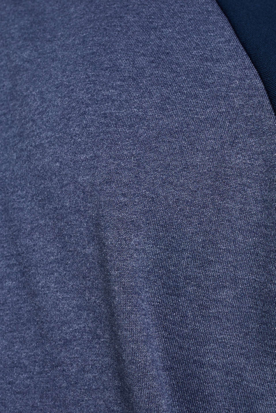 Sweatshirt with a neon logo and organic cotton, NAVY, detail image number 5