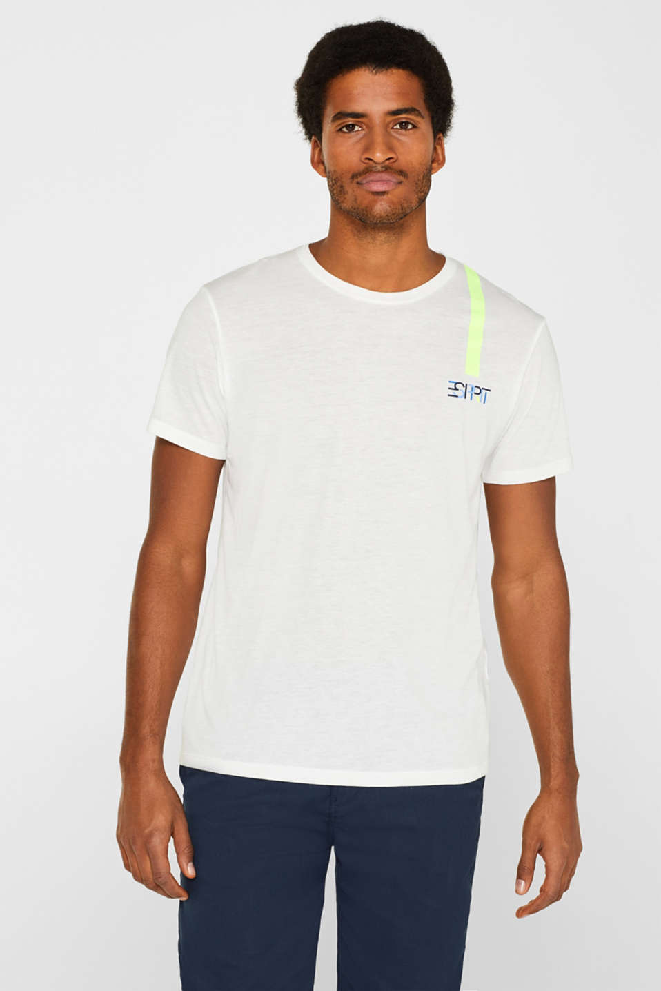 Esprit - Athleisure jersey T-shirt with E-DRY technology