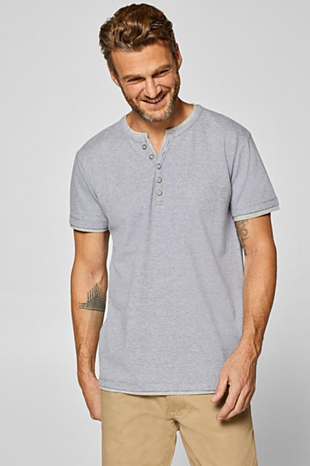 Piqué T-shirt in blended cotton