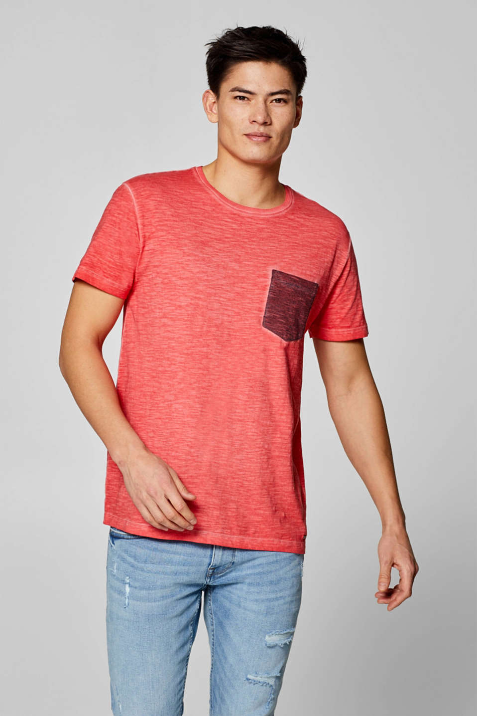 Esprit - Cold-dyed jersey T-shirt in 100% cotton