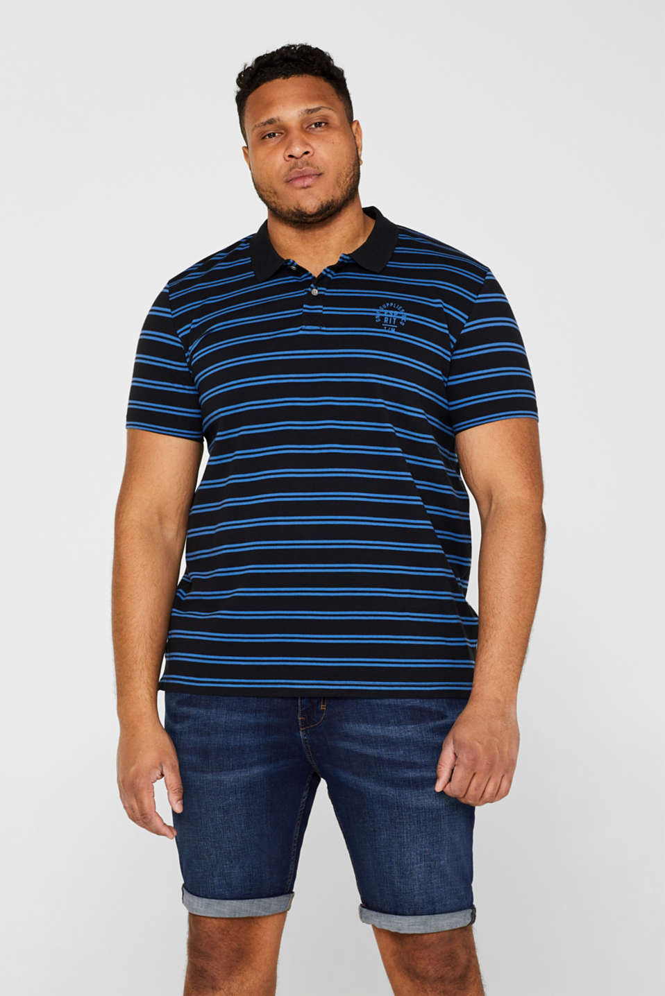 Esprit - Piqué polo shirt with stripes