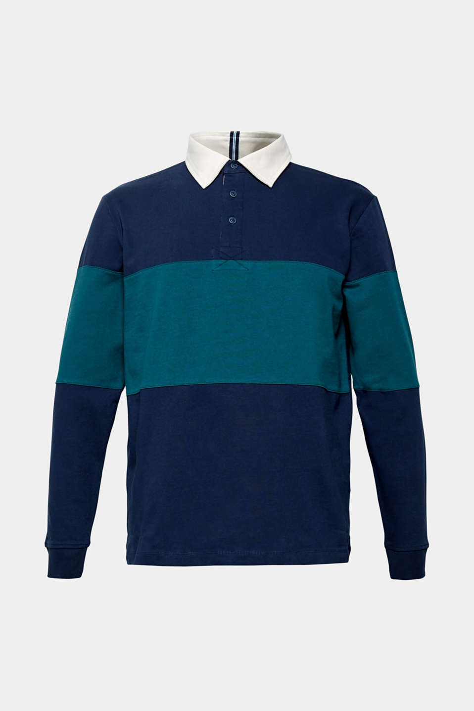 Long sleeve jersey top in 100% cotton, NAVY, detail image number 7