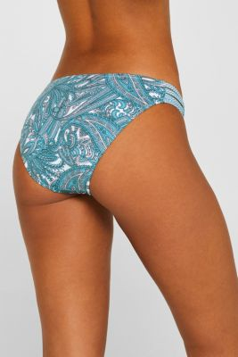 Briefs with a mixed pattern and stretchy side straps