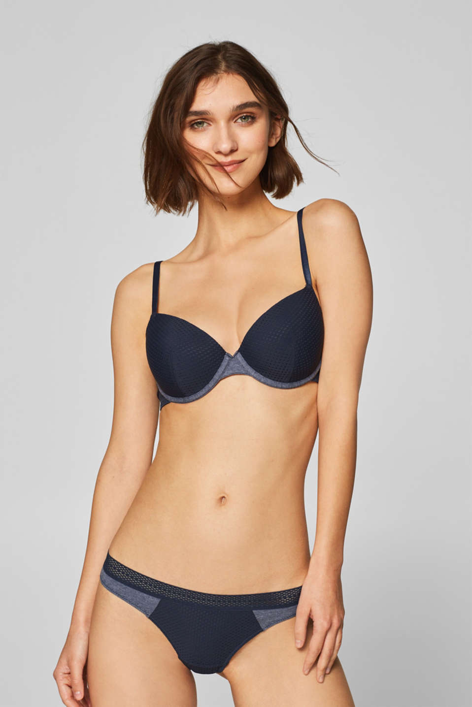 Esprit - Padded underwire bra in an airy material mix